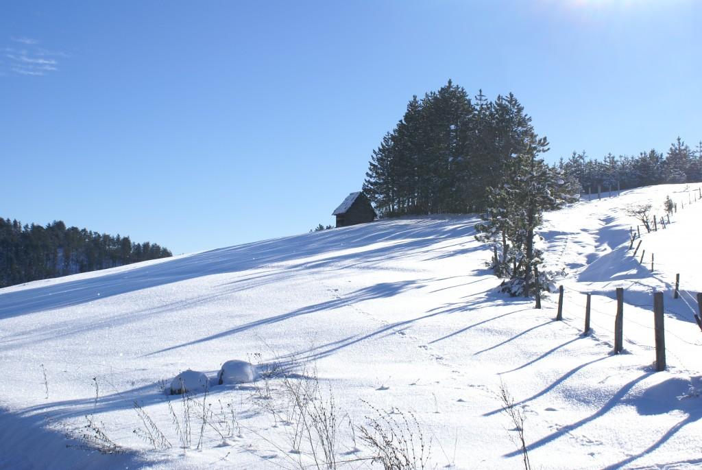 Zima na Kamenoj gori, idealna za malo izazovnije planinarenje.