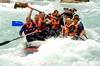 Aktivan odmor i rafting, Kamena Gora.